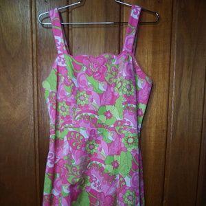 Karin Stevens Womens Floral Pink Dress Sleeveless